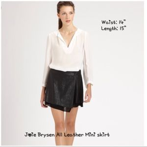 [Joie] Brysen All Leather mini Skirt. Small